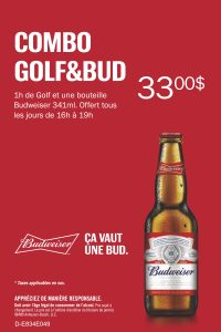 Happy hour Golf & Budweiser @ Golfin Dorion