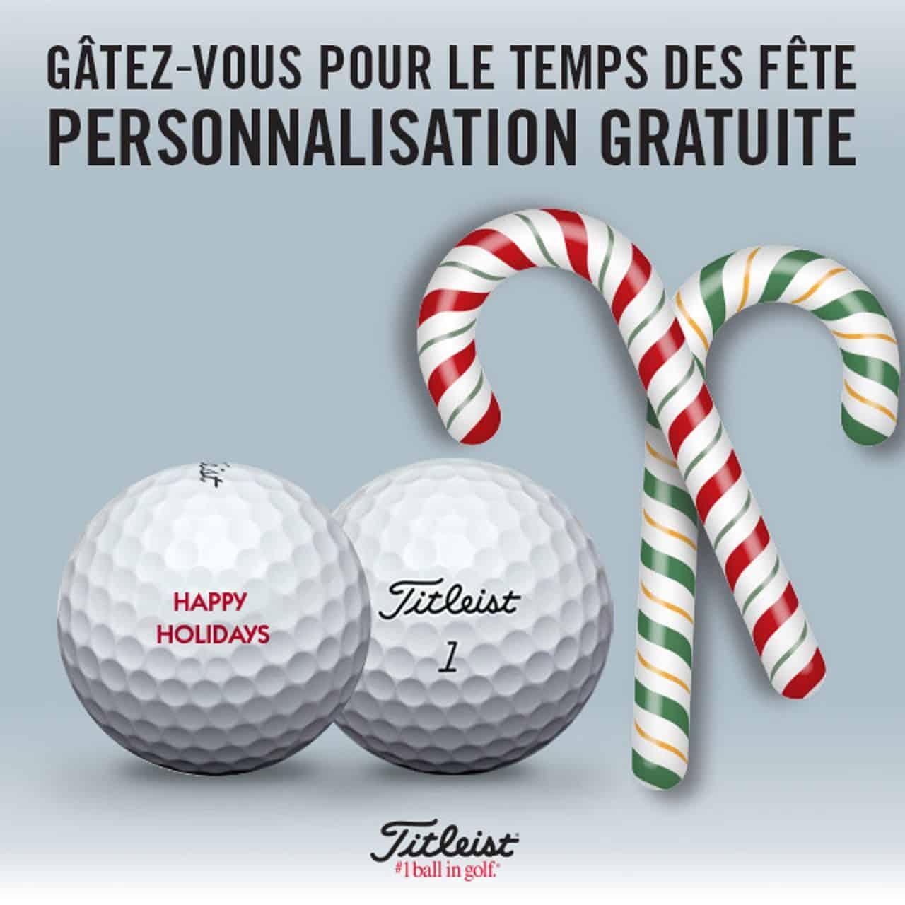 Promotion Balles personnalisées Titleist @ Golfin Dorion