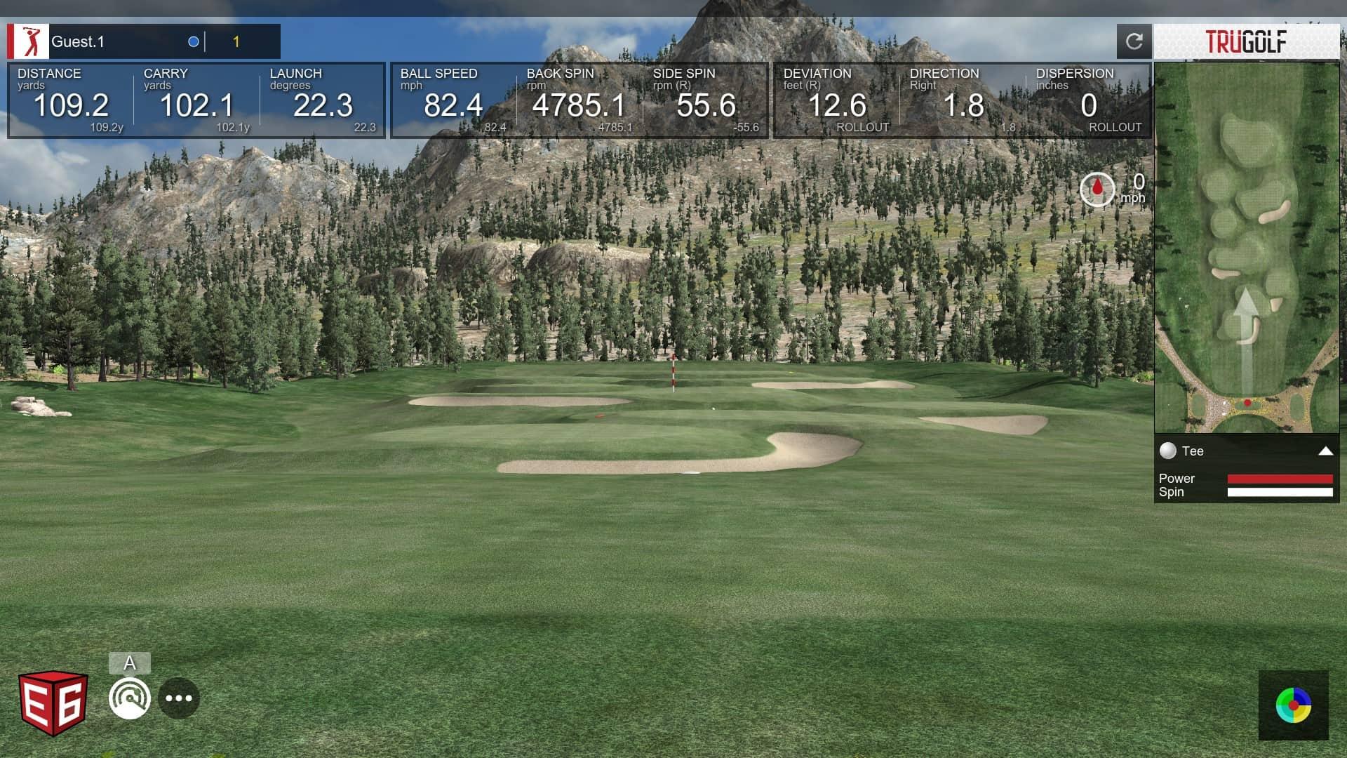 e6 connect driving range @ Le Golf Club